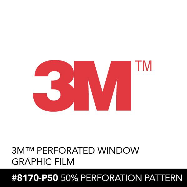 3m Perforated Window Graphic Film 8170 P50 Trim Usa