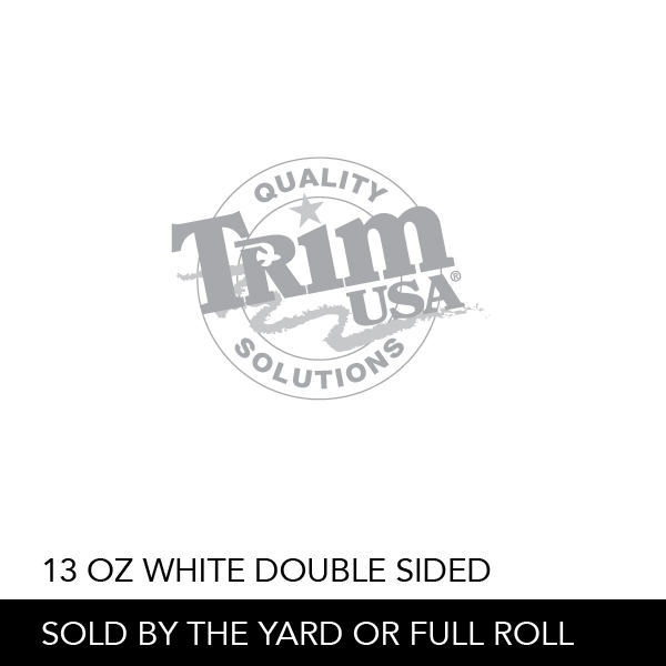 13 Oz White Double Sided Trim Usa